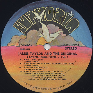 James Taylor And The Flying Machine / 1967 label