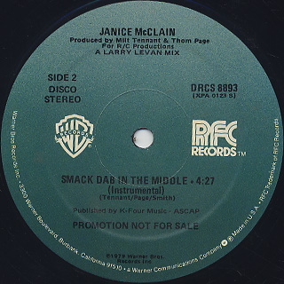 Janice McClain / Smack Dab In The Middle label