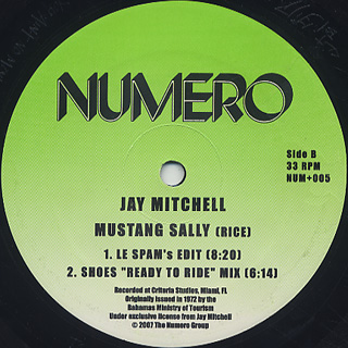 Jay Mitchell / Mustang Sally label