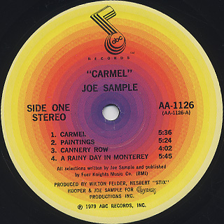 Joe Sample / Carmel label