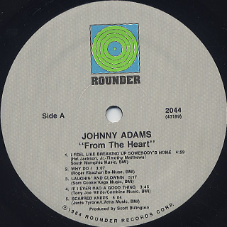 Johnny Adams / From The Heart label