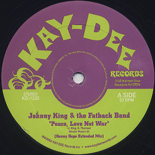 Johnny King And The Fatback Band / Peace, Love Not War front