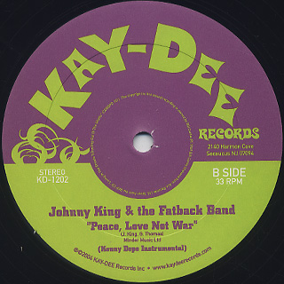 Johnny King And The Fatback Band / Peace, Love Not War back