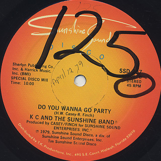 K.C. And The Sunshine Band / Do You Wanna Go Party label