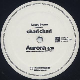 Kaoru Inoue Presents Chari Chari / Aurora EP label