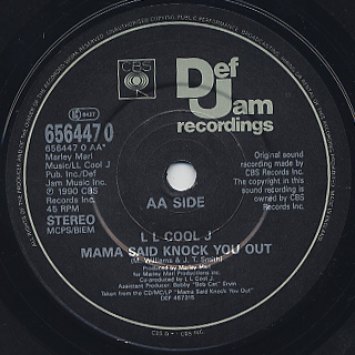 LL Cool J / Around The Way Girl c/w Mama Said Knock You Out (EX-) label