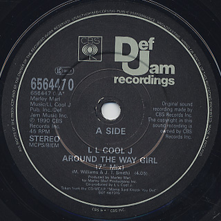 LL Cool J / Around The Way Girl c/w Mama Said Knock You Out label