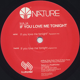 Maja / If You Love Me Tonight front
