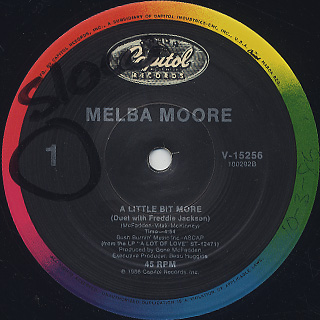 Melba Moore / A Little Bit More back