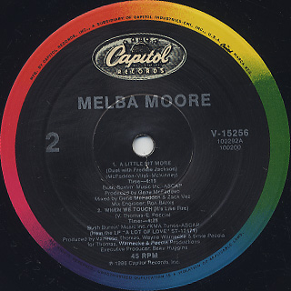 Melba Moore / A Little Bit More label