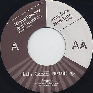 Mighty Ryeders / Evil Vibrations(45) back