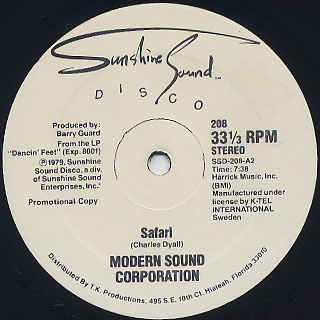 Modern Sound Corporation / Safari back