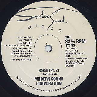 Modern Sound Corporation / Safari label
