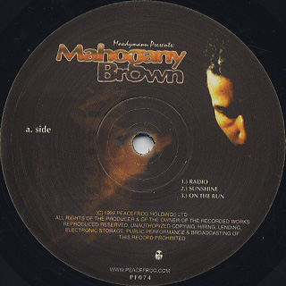 Moodymann / Mahogany Brown label