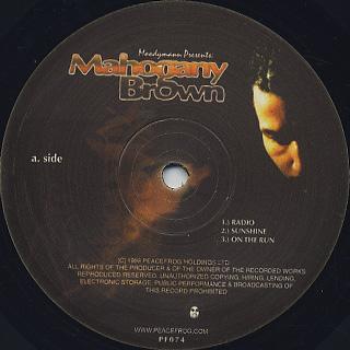 Moodymann / Mahogany Brown label