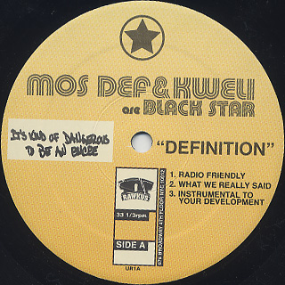 Mos Def & Kweli Are Black Star / Definition label