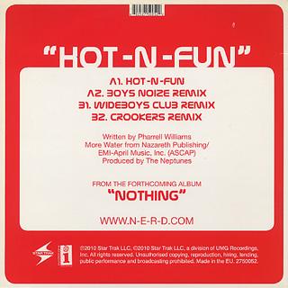 N*E*R*D Featuring Nelly Furtado / Hot-N-Fun back