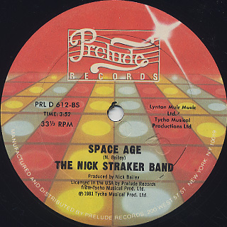 Nick Straker Band / A Little Bit Of Jazz label