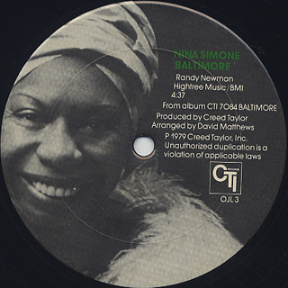 Nina Simone / The Family c/w Baltimore back