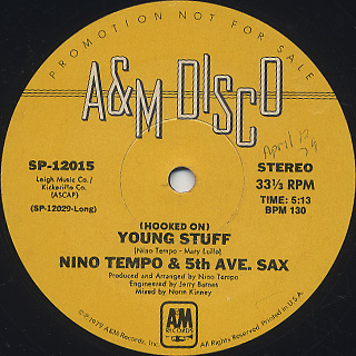 Nino Tempo & 5th Ave. Sax / (Hooked On) Young Stuff back