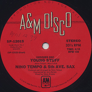 Nino Tempo & 5th Ave. Sax / (Hooked On) Young Stuff label