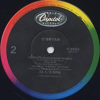 O'Bryan / Lovelite label