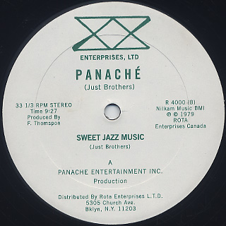 Panache / Sweet Music front