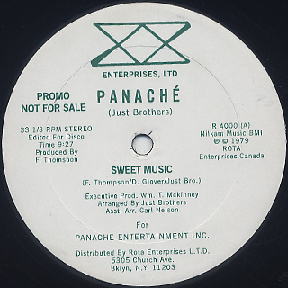 Panache / Sweet Music back