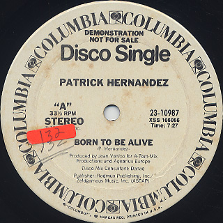 Patrick Hernandez / Born To Be Alive back