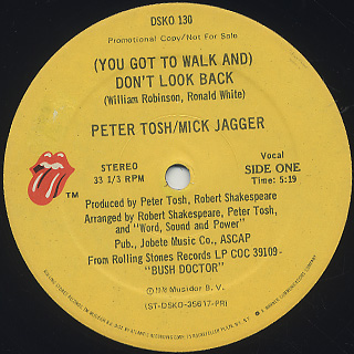 Peter Tosh / (You Got To Walk And) Don't Look Back back