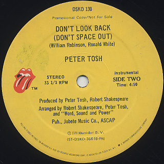 Peter Tosh / (You Got To Walk And) Don't Look Back label