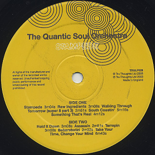 Quantic Soul Orchestra / Stampede label