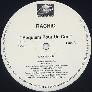 Rachid / Requiem Pour Un Con back