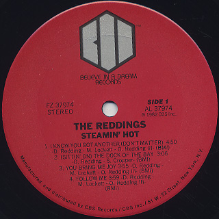 Reddings / Steamin' Hot label