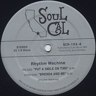 Rhythm Machine / Put A Smile On Time back