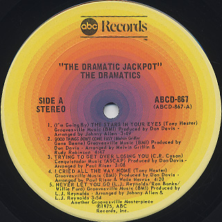 Ron Banks And The Dramatics / The Dramatic Jackpot label