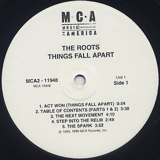 Roots / Things Fall Apart back