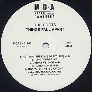 Roots / Things Fall Apart label