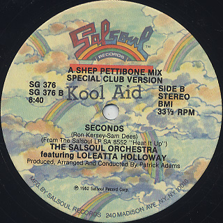 Salsoul Orchestra Featuring Loleatta Holloway / Seconds back