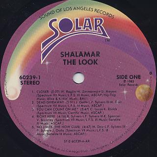 Shalamar / The Look label