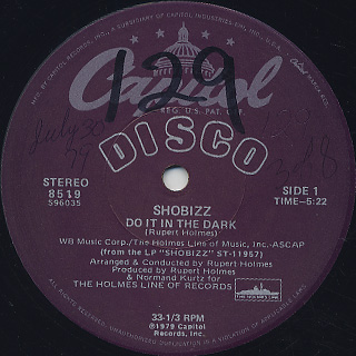 Shobizz / Do It In The Dark c/w We Are A Music Machine back