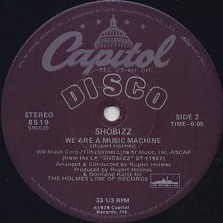 Shobizz / Do It In The Dark c/w We Are A Music Machine label