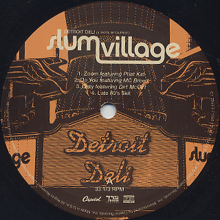 Slum Village / Detroit Deli (A Taste Of Detroit) label