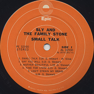 Sly And The Family Stone / Small Talk label