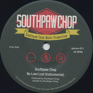 Southpaw Chop feat. Diamond D / No Love Lost back