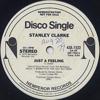 Stanley Clarke / Just A Feeling back