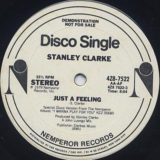 Stanley Clarke / Just A Feeling label