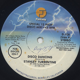 Stanley Turrentine / Disco Dancing back