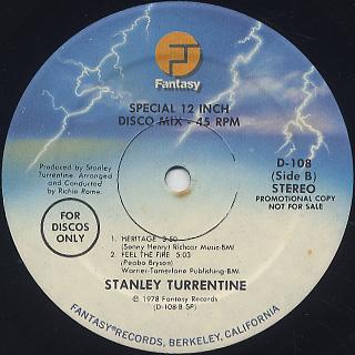 Stanley Turrentine / Disco Dancing label