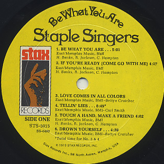 Staple Singers / Be What You Are label